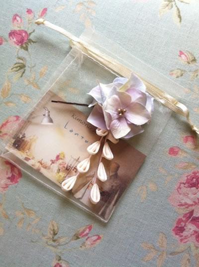紫陽花のヘアピン2